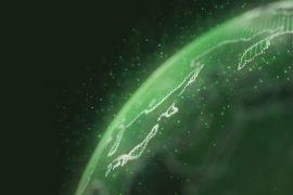 Rise in ESG green globe